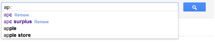 Google retouche aux suggest ?